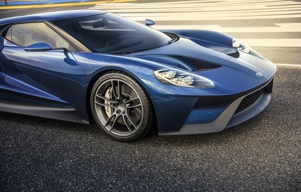 Картинка синий, Ford, шины, суперкар, автомобиль, тормоза, колодки, michelin