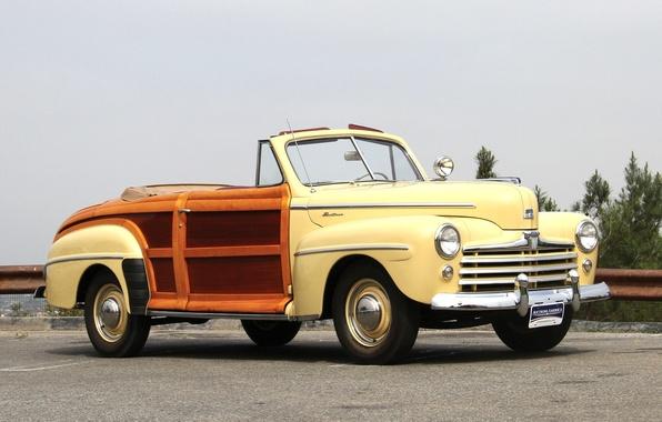 Картинка Ford, автомобиль, классика, cars, classic, Super, 1948, Convertible, Deluxe, Sportsman