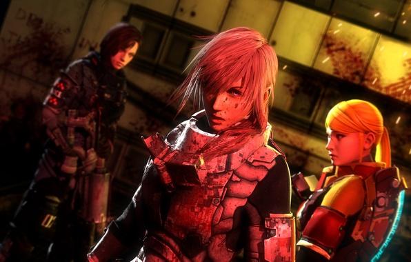 Картинка кровь, Final Fantasy XIII, Lightning, Square Enix, Resident Evil, fan art, Jill Valentine, Samus Aran, …