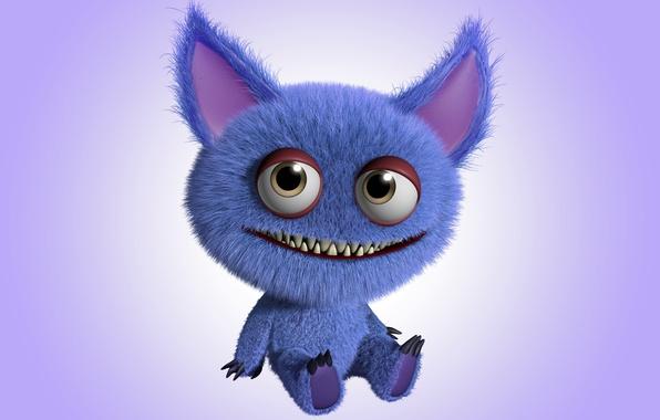 Картинка монстр, monster, smile, cartoon, персонаж, funny, cute