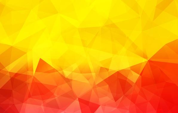 Картинка свет, линии, цвет, объем, треугольник