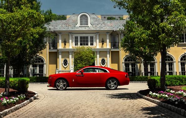 Картинка дом, парк, Rolls-Royce, Wraith, 2015, James Edition