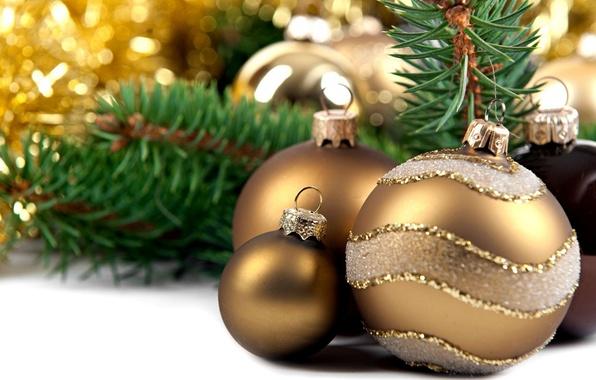 Картинка праздник, шары, игрушки, новый год, ель, декорации, happy new year, christmas decoration, новогодние обои, christmas …