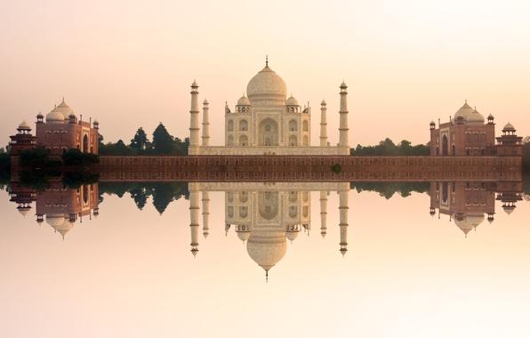 Обои замок, Индия, памятник, храм, Taj Mahal, Тадж Махал, Agra, India, casstle, Pradesh