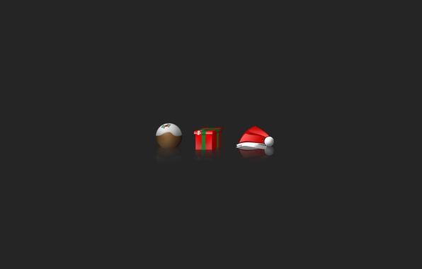 Картинка праздник, подарок, шапка, новый год, Рождество, new year, Санта Клаус, holiday