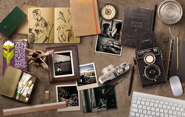 Картинка рисунки, фотографии, фотоаппараты