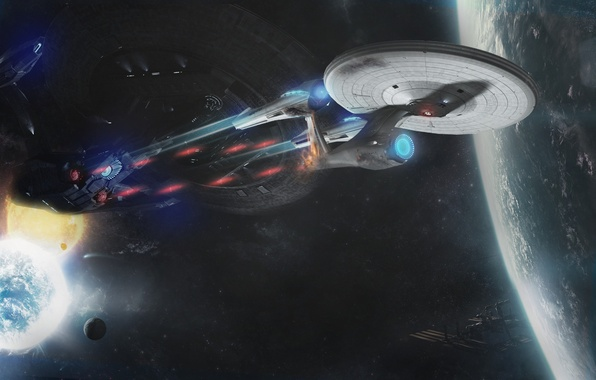 Картинка Enterprise, Star Trek, Earth, Into Darkness, NCC1701