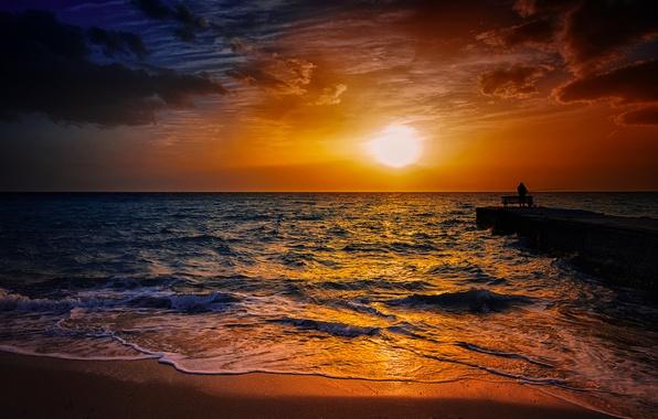 яхта закат фото