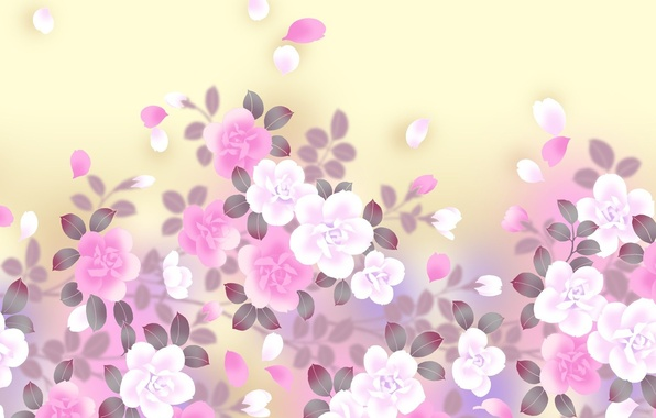 Картинка цветы, фон, арт, нежно
