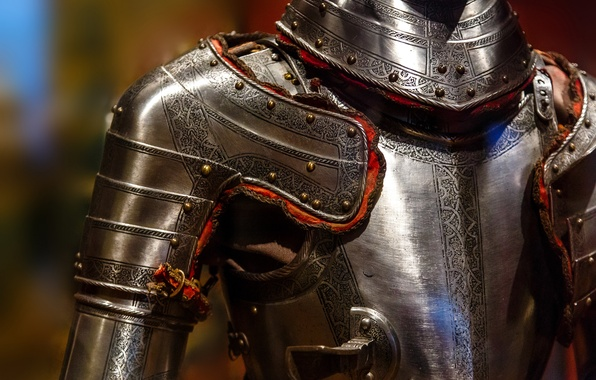 Картинка металл, фон, узор, доспехи, рыцарь