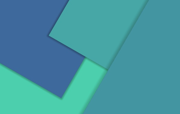 Картинка Android, Design, Square, 5.0, Lines, Lollipop, Turquoise, Material, Triangles, Angles, Abstractions