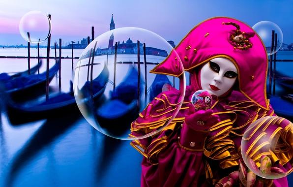 Картинка маска, костюм, Венеция, Floating in Venice