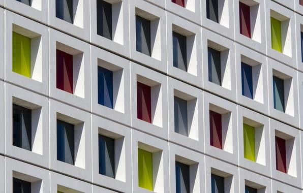 Картинка дом, краски, окна, фасад