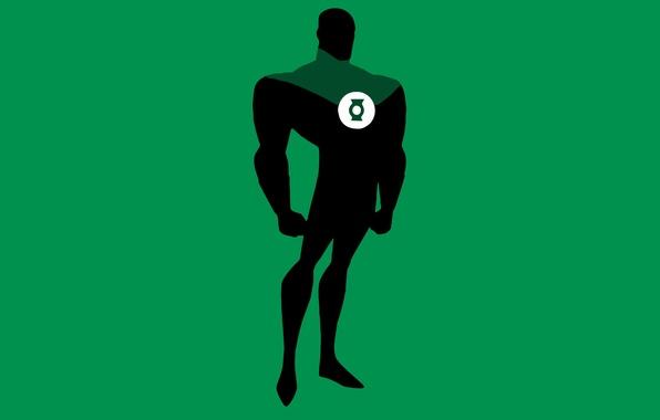 Картинка минимализм, Minimal, Зелёный Фонарь, Green Lantern, DC Comics, Justice League, Лига Справедливости