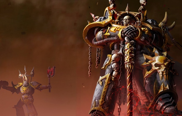Картинка хаос, dawn of war 2, warhammer 40k, retrebution, космодесан, элифас