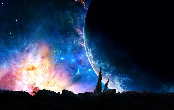 Картинка космос, звезды, сияние, планеты, Стражи Галактики, Guardians of the Galaxy