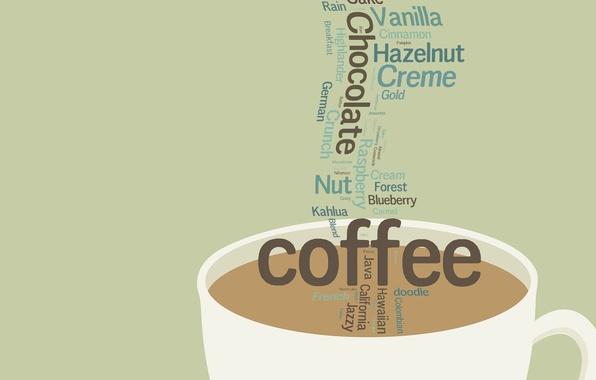 Картинка фон, надпись, обои, кофе, текстура, кружка, чашка