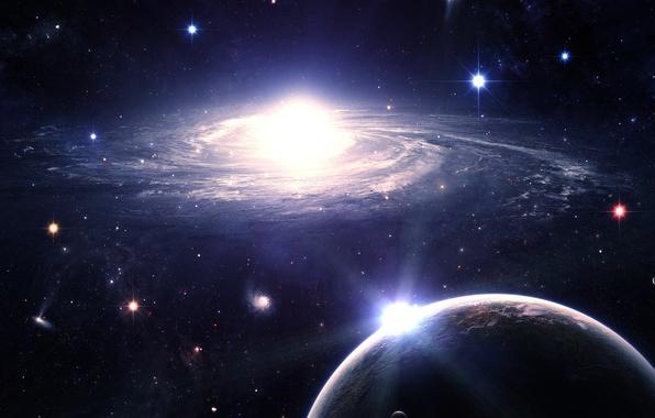 Картинка space, universe, planets, sci fi