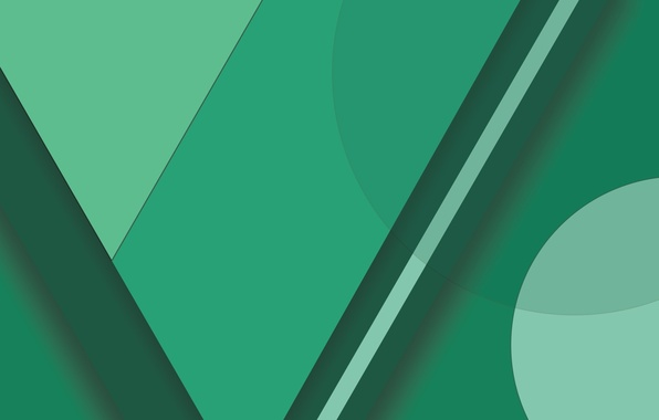 Картинка Android, Circles, Green, Design, 5.0, Lines, Lollipop, Material, Abstractions