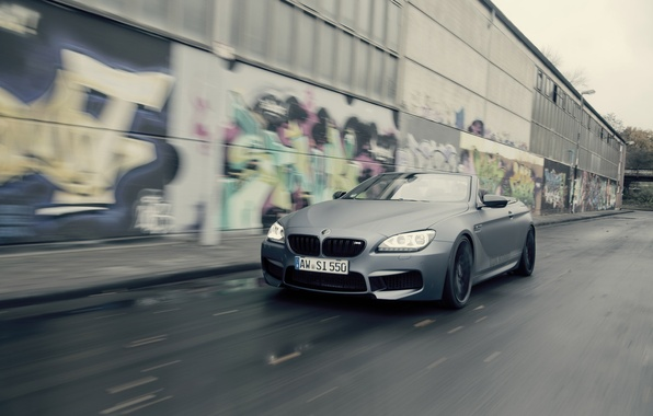 Картинка дорога, car, машина, граффити, BMW, speed, Cabrio