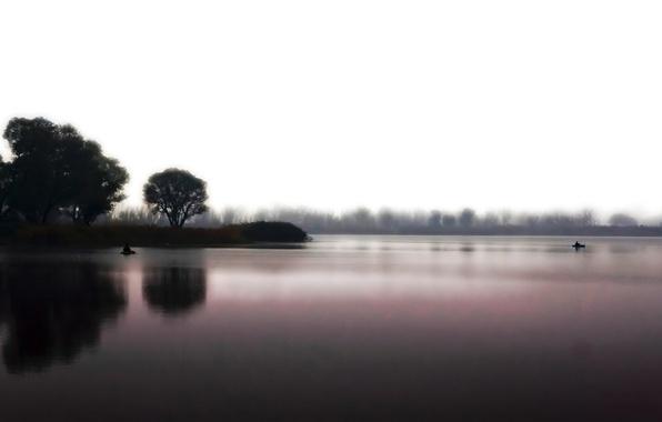 Картинка вода, природа, озеро, настроение, тишина