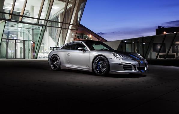 Картинка купе, 911, Porsche, порше, Coupe, Carrera, GTS, 991, каррера, TechArt, 2015