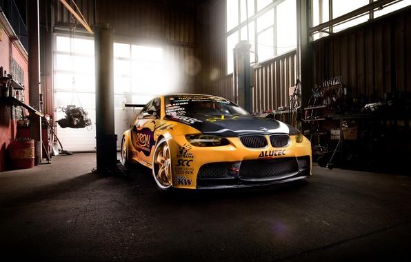 Картинка car, тюнинг, бмв, гараж, bmw m3, автообои, GT2 E92