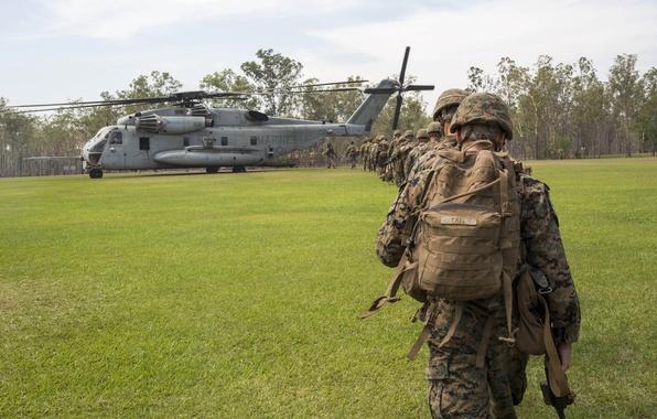 Картинка армия, солдаты, вертолёт