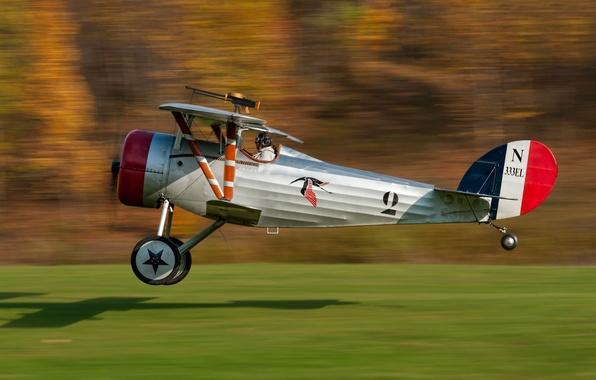 Картинка скорость, пилот, самолёт, одноместный, Ньюпо́р, Nieuport