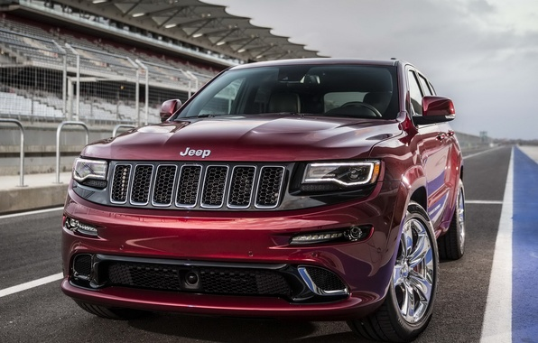 Картинка джип, передок, SRT, Jeep, Grand Cherokee, мощный