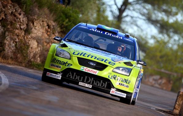 Картинка Ford, Авто, Гонка, Гонщик, Focus, WRC, Rally, Передок, В Движении