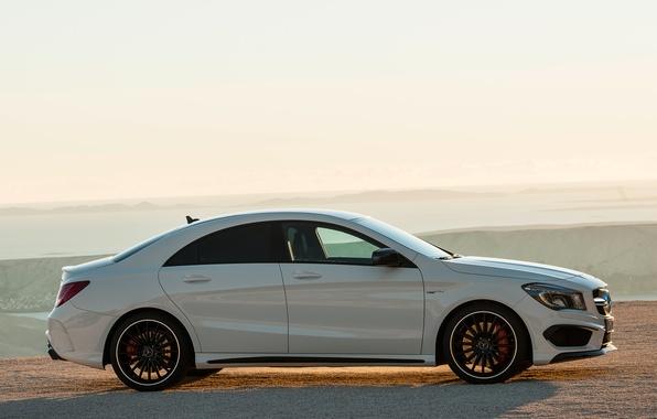 Картинка авто, обои, Mercedes-Benz, вид сбоку, AMG, CLA