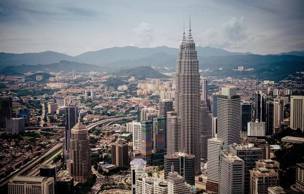 Картинка здания, панорама, Малайзия, Kuala Lumpur, Malaysia, Куала-Лумпур