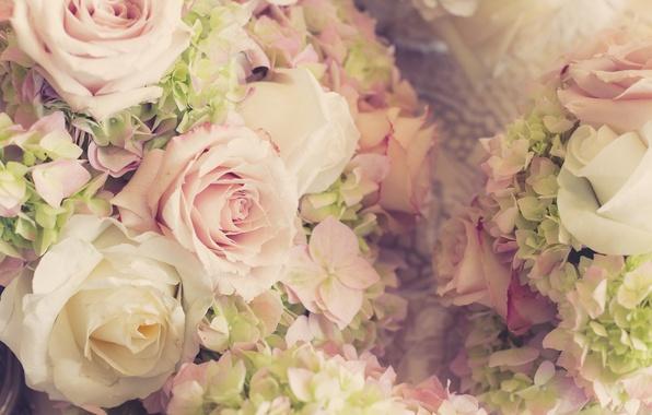 Картинка цветы, розы, букет, свадьба, flowers, bouquet, roses, wedding