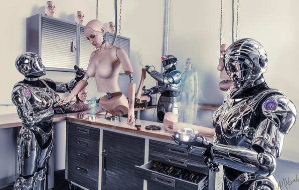 Картинка future, science fiction, robots, conceptual, cyborgs