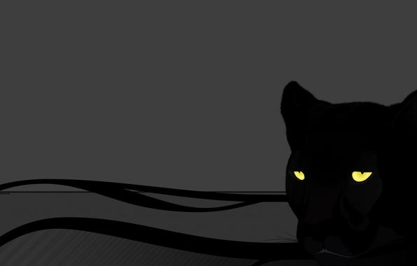Картинка кошка, глаза, серый, пантера