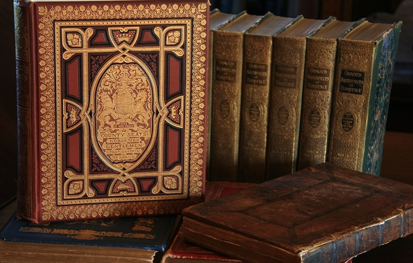 Картинка книги, библиотека, тома