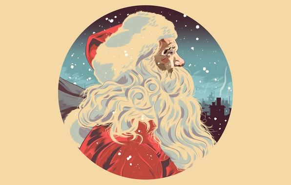 Картинка шапка, рисунок, Новый Год, Рождество, борода, Дед Мороз, Christmas, New Year, Xmas, Merry