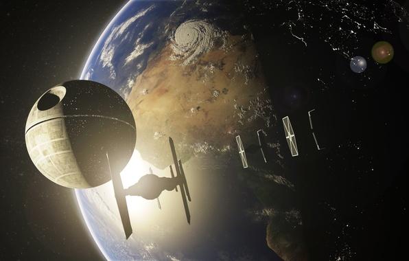 Картинка космос, планета, star wars, звезда смерти, Death Star