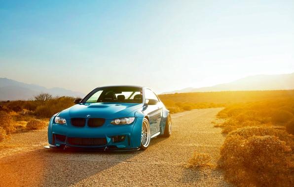 Картинка BMW, Sky, Blue, Sunset, E92, Liberty, Walk