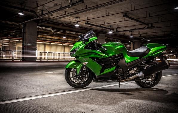 Картинка дизайн, фон, мотоцикл, Kawasaki