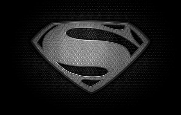 Картинка черный, логотип, logo, superman, black, супермен, человек из стали, Man of steel