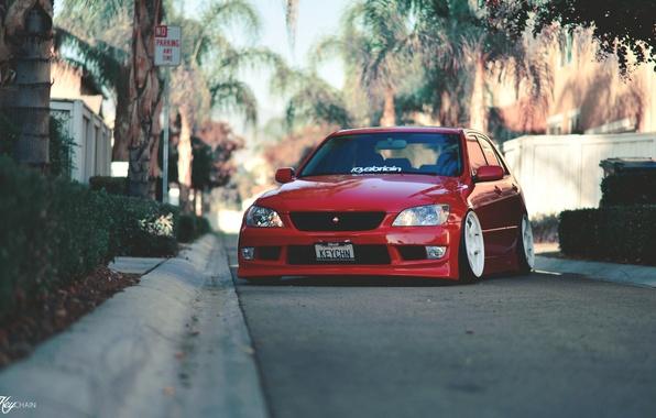 Картинка Lexus, red, tuning, stance, IS300, keychain