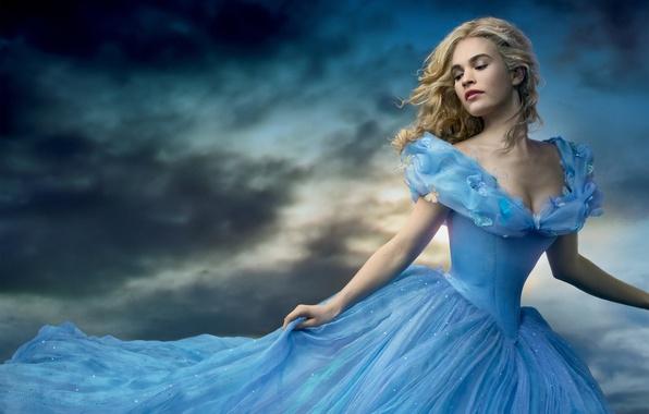 Картинка Girl, Light, Fantasy, Sky, Beautiful, Blue, Sun, Cloudy, Wallpaper, Family, Eyes, Blonde, Woman, Cinderella, Year, …