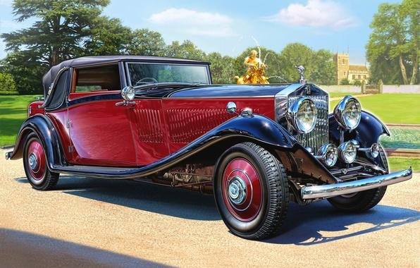 Картинка скорость, Continental, Rolls-Royce, арт, кабриолет, кузов, спортивный, Phantom II, мощность, компании, для, всепогодный, модель., стал, …