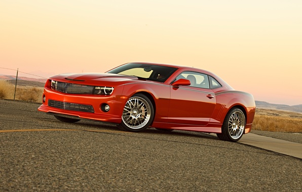 Картинка дорога, авто, тюнинг, muscle car, шевроле камаро, Chevrolet Camaro