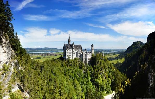 Картинка Германия, Germany, Neuschwanstein Castle, Bavarian Alps, Баварские Альпы, Замок Нойшванштайн