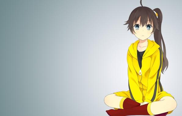 Картинка аниме, арт, девочка, monogatari series araragi karen