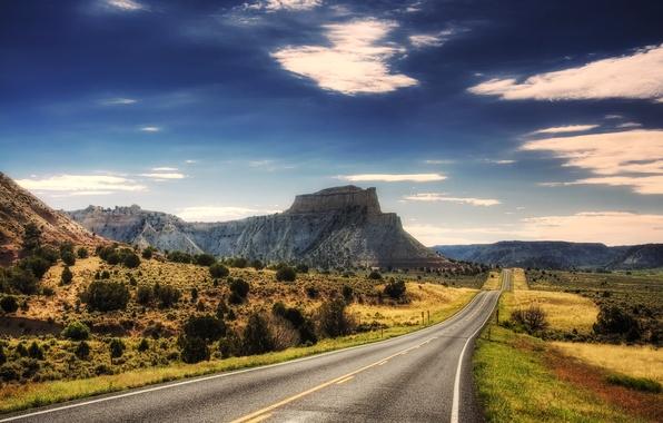 Картинка дорога, горы, путь, пейзажи, гора