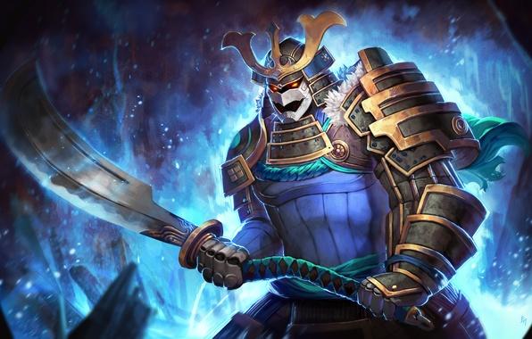 Картинка меч, воин, арт, самурай, Dota 2, Sven, Rogue Knight